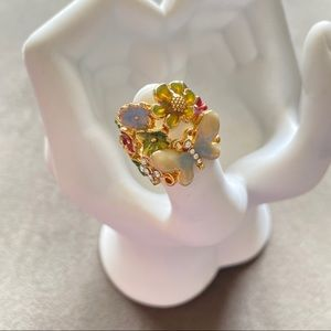 Beautiful & Whimsical cloisonné Cocktail Ring